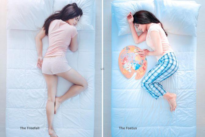 my nite freefall & foetus sleep postions